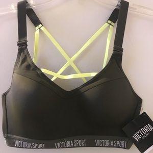 Victoria's Secret Sports bra Army Green & yellow